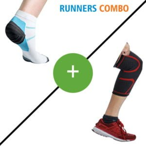 Runners Combo - Low Cut Compression Socks & Compression Knee Brace