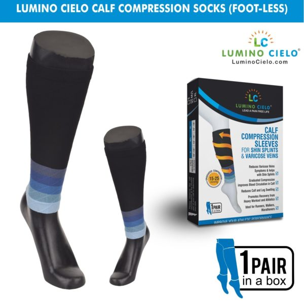 Calf Compression Sleeves Blue
