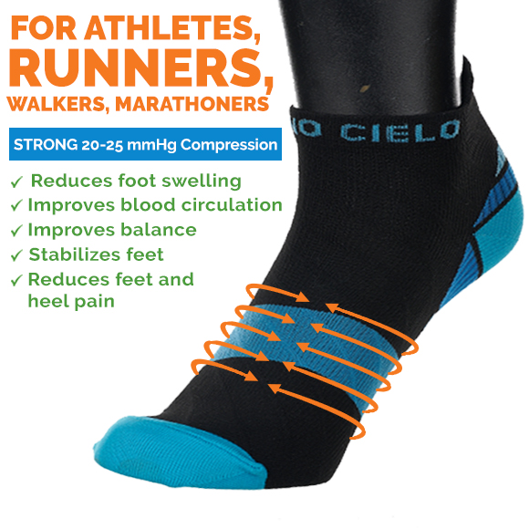 Strong Low Cut Compression Socks for Heel Pain